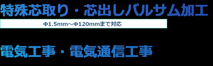 特殊芯取り専門 π1.5㎜~110㎜まで対応